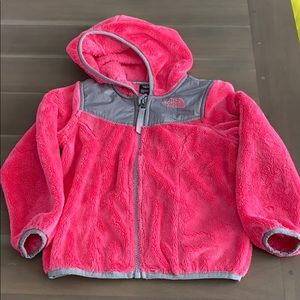 The North Face Girls pink fleece jacket 4T